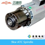 asse di rotazione di Atc raffreddato aria della macchina per incidere di 9kw ISO30 per la scultura del legno