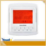 Naranja de retroiluminación de LCD programable semanal del termostato