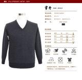 Der Yak Bn1654 Stutzen-Pullover-Männer der /Merino-Wolle-Strickjacke der langen Hülsen-V für Sprung und Herbst