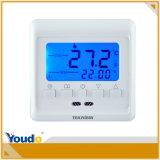 Blaue Hintergrundbeleuchtung-Digital-programmierbarer Fußboden-Heizungs-Thermostat