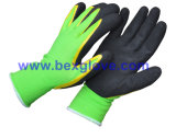 fodera del nylon 15gauge/Spandex, rivestimento del nitrile, guanti di sicurezza della Micro-Gomma piuma
