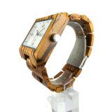 Het Hout Nutural van uitstekende kwaliteit Gemaakt het Vierkante Horloge tot van het Geval ww-016b