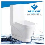 Weidansi en céramique lavent vers le bas la toilette d'une seule pièce de courroie (WDS-T6103)