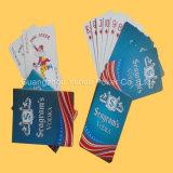 フルカラーの青いコアペーパートランプの火かき棒のカード