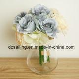 Fleur artificielle de bouquet de Rose et d'orchidée pour la décoration à la maison (SF15876)
