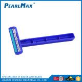 Горячая продавая бритва дешевой пластичной нержавеющей стали лезвий близнеца ручки материальная устранимая