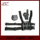 Het tactische Holster van het Been van de Daling Airsoft met Mag Houder voor P220/P226