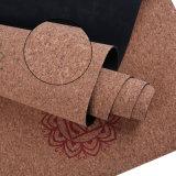 De kleurrijke Ontwerp Afgedrukte Mat van de Yoga met Cork Hoogste Laag