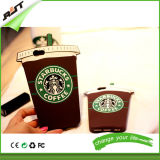 Koffie-Cup Phone Cover Starbuck Silicone Cases voor iPhone 6 (rjt-0164)