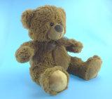Urso da peluche do luxuoso de Brown escuro do brinquedo dos miúdos