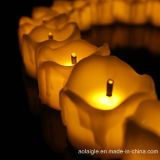 Nuevo Diseño Mini Tear Drop amarillo claro plástico LED Vela
