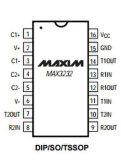 Circuito integrado de la máxima del IC Max3232cse de los transmisores-receptores de las energías bajas