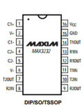Máxima del circuito integrado del IC Max3232cse de los transmisores-receptores de las energías bajas integrada