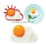 Círculo Shaped Eco-Friendly engraçado da omeleta do ovo da borracha da nuvem e de silicone de Sun