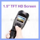 1.5 Fackel der Inch LCD-intelligente Nachtsicht-Patrouillen-Taschenlampe-AVI der Videoaufzeichnungs-LED