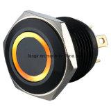 16mm elektrischer schwarzer Ring Anti-Vandale Drucktastenschalter (Ls16)