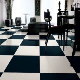 600*600mmの極度の白黒磁器の床のタイ(TP6001)