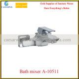 Mezclador de cobre amarillo del lavabo del bastidor con Acs aprobado para el cuarto de baño