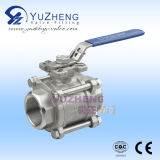 3PC Stainless Steel ISO5211 Pad Ball Valve con Lock Handle