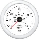 velocímetro 0-35mph de 85m m para el yate del barco