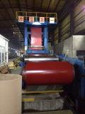 Bobine en acier enduite d'une première couche de peinture (PPGI, couleur rouge RAL3009)