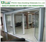 Новая дверь складчатости Bi самомоднейшей конструкции алюминиевая с двойным стеклом