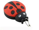 vara plástica do USB Memoria da movimentação 32GB Pendrive 16GB do flash do USB do Ladybug 8GB bonito para o PC
