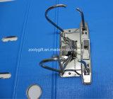 Голубой/черный скоросшиватель архива свода рукоятки A4 PP с протектором края металла и карманн ярлыка позвоночника