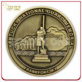 黄銅によって押されるカスタム紋章の軍の記念品の硬貨