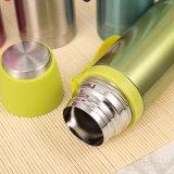 Taza del vacío del acero inoxidable de 350 ml con la maneta del silicón