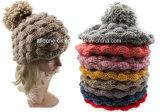A fábrica tricota manualmente o tampão do chapéu do Beanie do abacaxi de Louchy do chapéu de lãs
