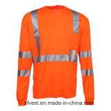 De in te ademen Lange T-shirt van de Veiligheid van het Zicht van de Koker Hoge Weerspiegelende