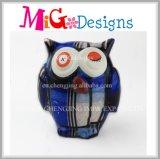 La mejor venta que pinta el juguete de cerámica del regalo de la batería de moneda del buho para los niños
