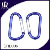 Dimensión de una variable de aluminio del encadenamiento dominante D que sube el gancho de leva de Carabiner