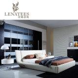 침대 머리에 LED 빛을%s 가진 C023 음악 현대 침대