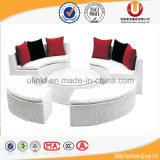 합성 등나무 테이블과 닫집 옥외 침대 겸용 소파 (UL-TDOU)를 가진 둥근 소파 베드