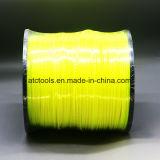 Орегон катышка 5 Lb круглая. Линия Gator желтого цвета триммера 130 шнуров