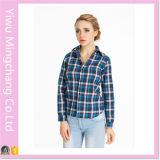 Coton classique de 2016 femmes de modèle plus la chemise de plaid de taille