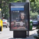 ライトボックスを広告するアルミニウム屋外の通りLEDのスクローリング