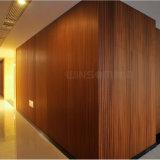 Painel composto do folheado de madeira natural/parede interior da placa/decoração do teto