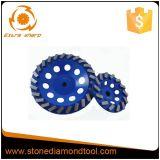 Конкретный абразивный диск мрамора гранита, колесо чашки для бетона