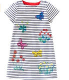 Il vestito dalla ragazza dei bambini di fiore in capretti copre (SQD-113)