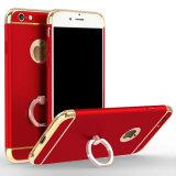 3 en 1 con el anillo que coloca la caja móvil lujosa del teléfono celular