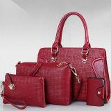 最も売れ行きの良いPU袋はGuanzhouの工場Sy8563からの上品な女性の高品質の女性ハンドバッグのための4bagsとセットした