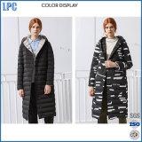 Скачками тепла геометрии Windproof длинняя женщин зимы куртка вниз