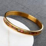 Armbanden van het Ontwerp van de Gift van het Roestvrij staal van de Juwelen van de Armband van de charme de Goud Geplateerde 316L Eenvoudige