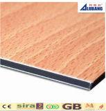 Material de construcción para la decoración usar el panel compuesto de aluminio del color de madera
