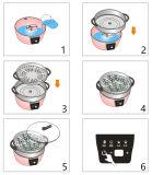 Cuiseur chaud électrique de vapeur d'acier inoxydable de ménage