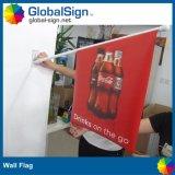 屋外の倍サイドPVCビニールの習慣の開いた販売の旗の壁に取り付けられたフラグ