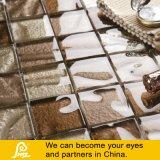 Vidrio moldeado con el mosaico de piedra del diseño en Brown